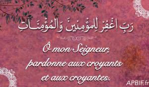 Ô Allah, pardonne aux croyants et aux croyantes