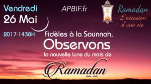A l'approche de Ramadan…