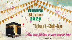 Aïd el kébir 2020 (^idou l ad-ha)