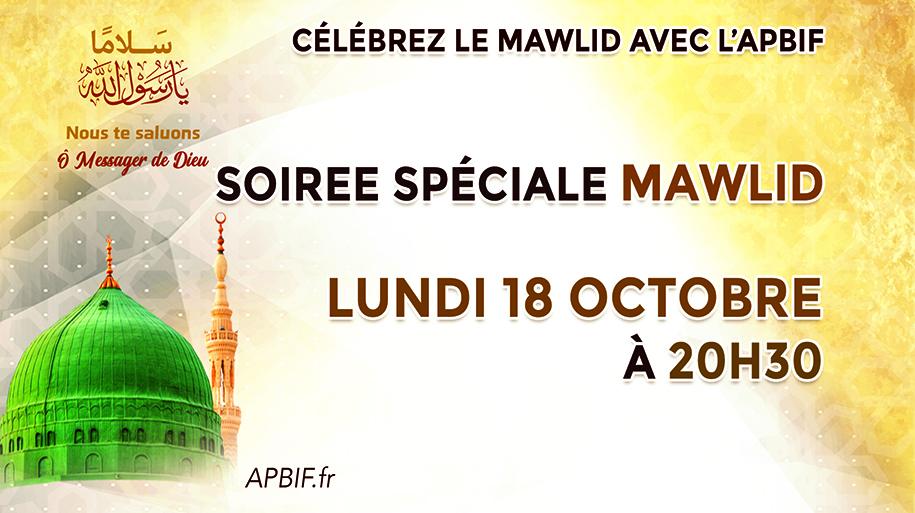 Soirée spéciale APBIF à l'occasion Mawlid 1443 de l'Hégire