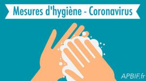 Mesures d'hygiène – Coronavirus