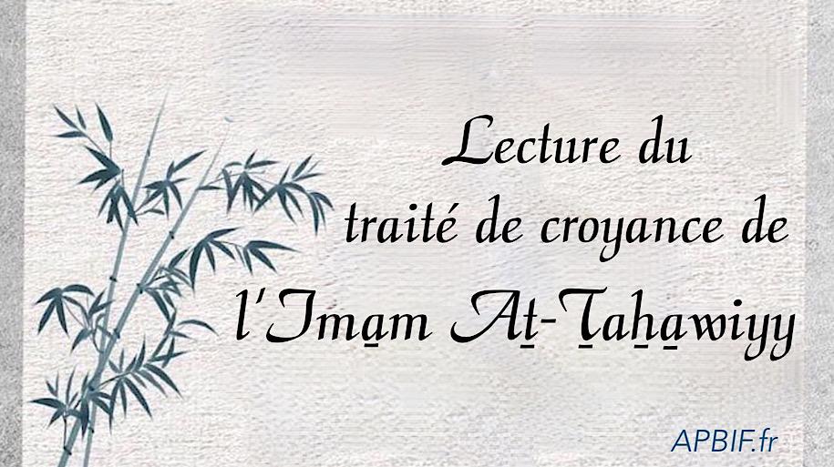 La croyance de l'Imam at-Tahawiyy