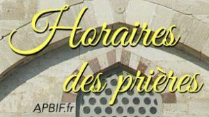 Méthodologie pour déterminer les horaires de prière publiés par l'APBIF