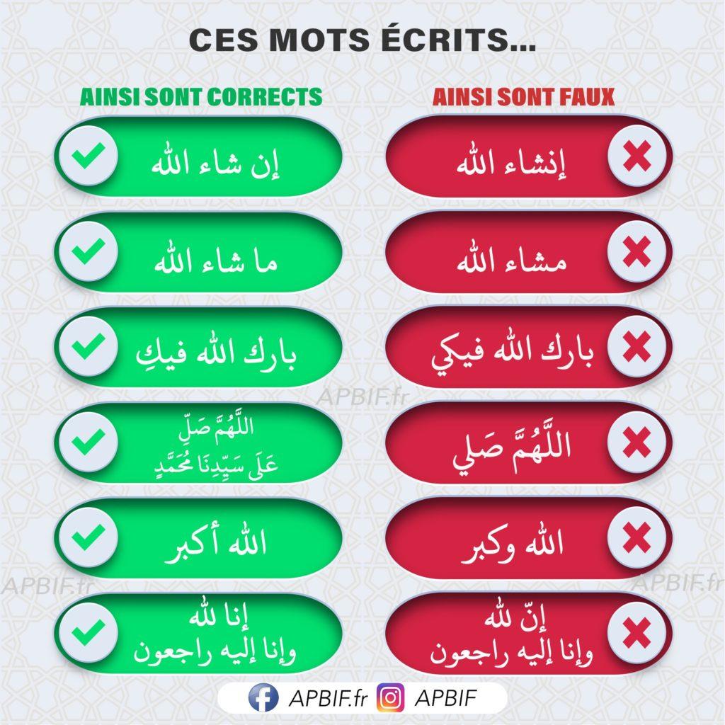 ecrire en arabe apbif
