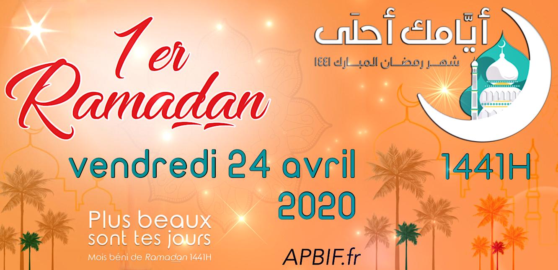 Vendredi 24 avril 2020 : 1er Ramadan 1441   Association des