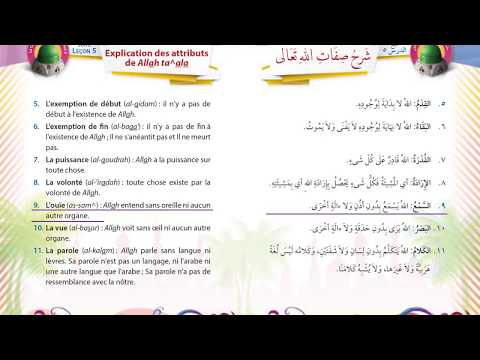 Tome 2 - Croyance - Leçon 5 - Attributs de Dieu