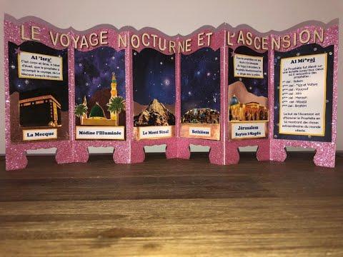 Jolie CARTE pour le Voyage nocturne et l'Ascension 1442H